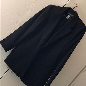 Sag harbor black long blazer size 10